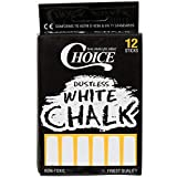 Choice 12 Count White Chalk (PACK OF 10)
