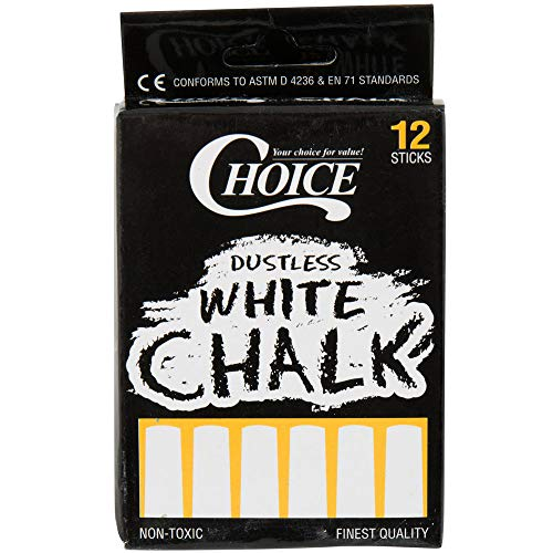Choice 12 Count White Chalk (PACK OF 10) by choice (Image #1)