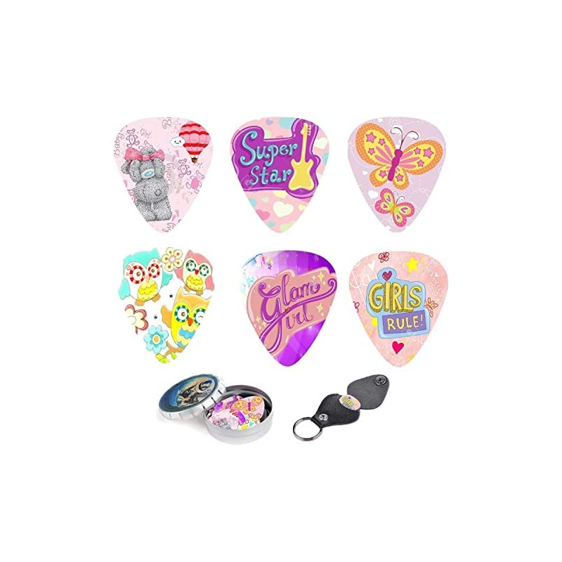 Pink Butterfly Guitar Picks For Girls &