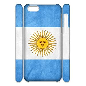 3D Cases for IPhone 5C, Argentina Cases for IPhone 5C, Haygen White