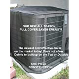 Air Conditioner Summer Full Cover 36x36x36 Black