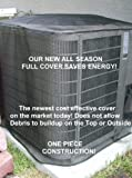 Air Conditioner Covers - Outdoor Summer/All-season Full Cover- Total protection from leaves and grass - 36x36x36 - Black