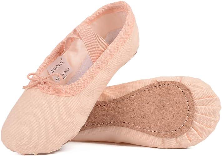 Amazon.com   Ruqiji Canvas Ballet Shoes