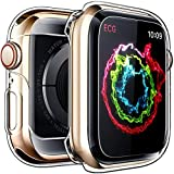 Penom Case for Apple Watch Screen Protector Series 4 44mm, Ultra Thin Clear iWatch 44mm Screen Protector with Full Protection TPU Cover