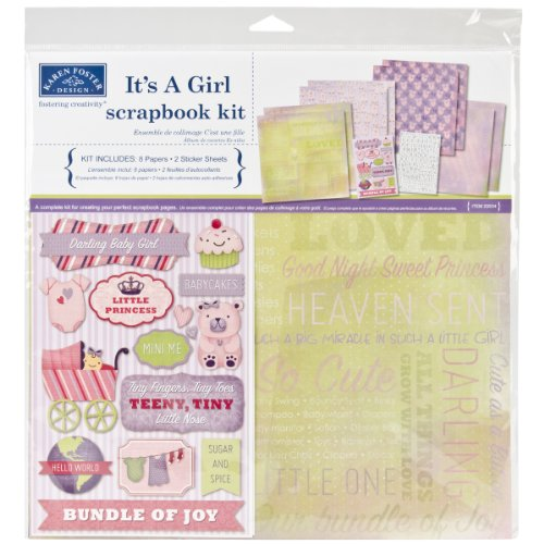 12 Scrapbooking Kit Page (Karen Foster Scrapbook Page Kit, 12 by 12-Inch, It's a Girl)