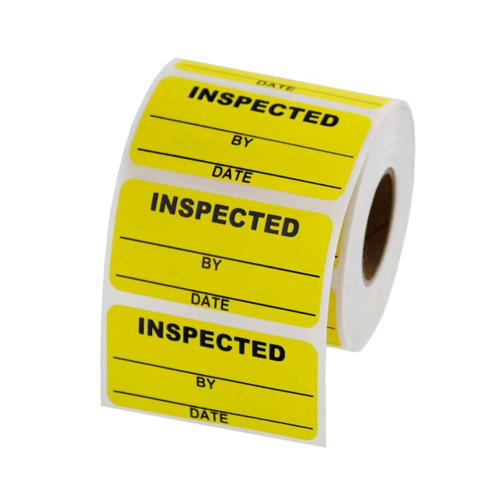 Inspected Inventory Labels 2 x 1 inch, 500 labels per roll