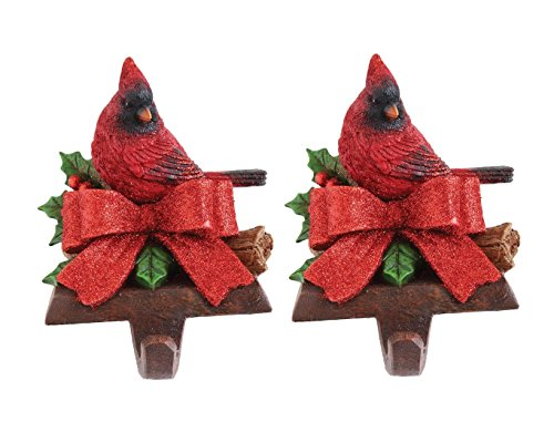 Holiday Holder Stocking (COOP Festive Holiday Cardinal Stocking Holder - Set of 2)