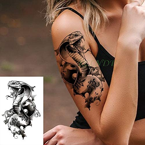 tzxdbh Tatuaje Impermeable Flor Rosa roja Datura Pegatina Tatto ...