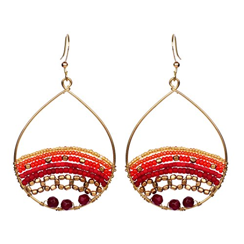 l Red Shades Beaded Art Bohemian Gypsy Jewelry Earrings Fashion Ideas ()