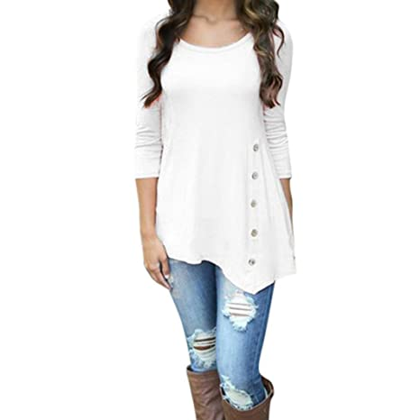 Rakkiss_ Women Vest Cleare!Rakkiss - Blusa de Manga Larga, Cuello ...