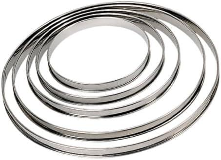 DE BUYER 3091.06N Circular Tart Frame Stainless Steel Rolled Edge Diam/ètre 20 cm