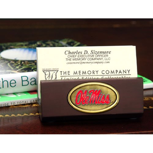 UPC 687746916750, NCAA Ole Miss, University of Mississippi Business Card Holder, One Size, Multicolor