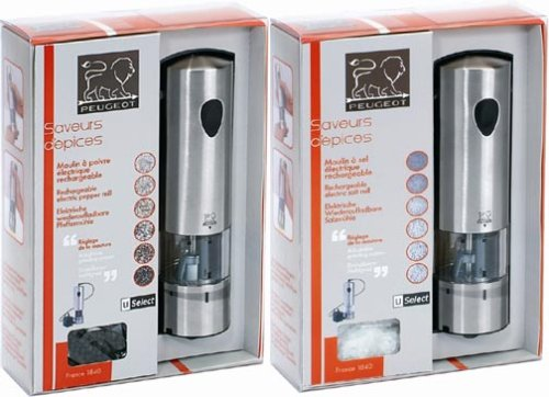 Peugeot Elis Rechargeable u''Select Salt & Pepper Mill Set