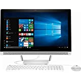 2017 Newest Edition HP 23.8' Full HD(1920x1080) Premium High Performance TouchScreen All in One Desktop, Intel Quad Core AMD A8, 4GB RAM, 1TB HDD, Win10, White