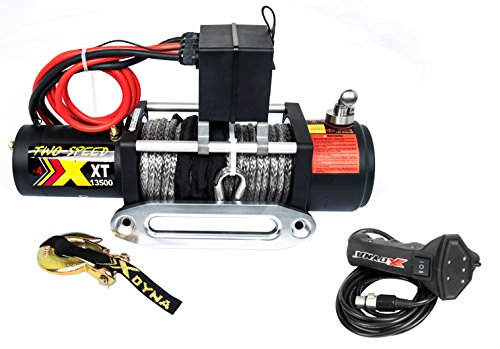 Two Speed 13500lbs 6.6HP Motor Winch, Change Gear Rate By Stainless Cluthch, Over 28m/min Speed, With Torque Limited Protector, Intelligent Remote Handle Showing Load, Used To SUV Jeep Track
