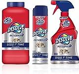 Resolve Pet Mess Cleaning Bundle: Pet Carpet Cleaner Powder (18oz), Pet Stain & Odor Carpet Cleaner (22oz), 1 ea