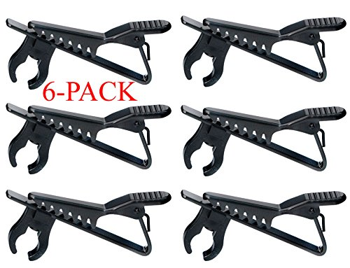 Top Stage 5/16'' Lapel/Lavalier Microphone Tie Clip, Color Black, 6-Pack, GMH02-Q6 by Top Stage