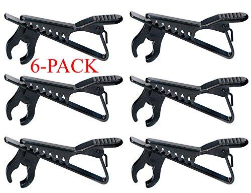 """Top Stage 5/16"""" Lapel / Lavalier Microphone Tie Clip, Color Black, 6-Pack, GMH02-Q6"""