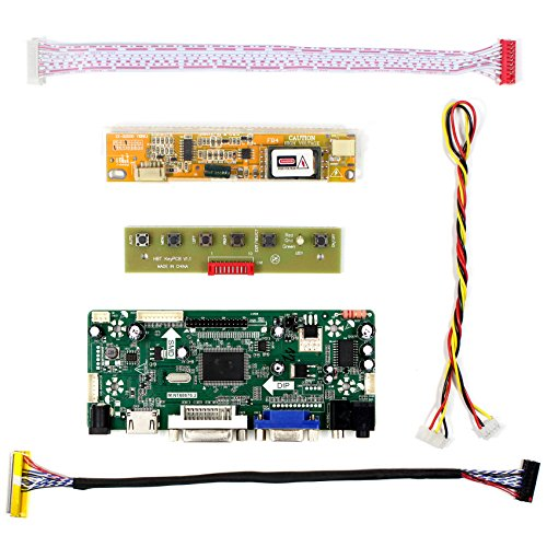 HDMI+VGA+DVI+Audio Input LCD Controller Board For B156XW01 LTN156AT01 15.6'' 1366x768 1CCFL 30Pins LCD Panel by LCDBOARD (Image #1)