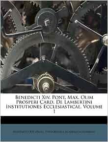 Benedicti Xiv Pont Max Olim Prosperi Card De