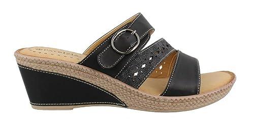 Amazon.com | PATRIZIA Women's by Spring Step, Glukera Mid Heel Wedge Sandals  | Sandals