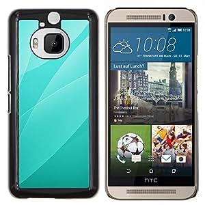 KLONGSHOP // Cubierta de piel con cierre a presión Shell trasero duro de goma Protección Caso - El verde deja el patrón - HTC One M9Plus M9+ M9 Plus //
