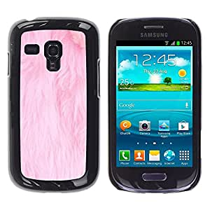 FlareStar Colour Printing Pink Fur White Pet Cat Clean Carpet cáscara Funda Case Caso de plástico para Samsung Galaxy S3 III MINI (NOT FOR S3!!!) / i8190 / i8190N