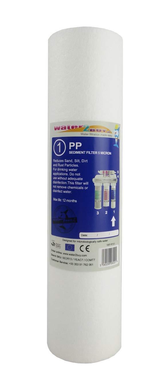 Système de filtre à osmose inverse 25 cm-Cartouche filtre à eau sédiments PP 5 microns filtres à eau