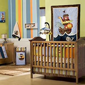 Amazon Com Kids Line 6 Piece Ark Animal Crib Set