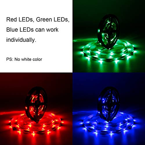 SUPERNIGHT 5M/16.4 Ft SMD 3528 RGB 300 LED Color Changing Kit with Flexible Strip Light+24 Key IR Remote Control+ Power Supply by SUPERNIGHT (Image #5)