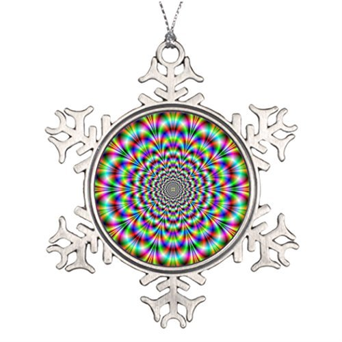 OneMtoss Christmas Snowflake Ornament Christmas Decoration Psychedelic Rosette