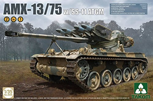 TAKom 1/35 AMX-13/75 W/SS-11 ATGM French Light Tank