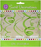 Kiwi Lime Green Hanging Swirl Decorations (12ct)