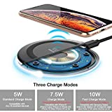 Yootech Wireless Charger Qi-Certified 7.5W Wireless Charging Compatible with iPhone Xs MAX/XR/XS/X/8/8 Plus,10W Compatible Galaxy Note 9/S9/S9 Plus/Note 8/S8,5W All Qi-Enabled Phones(No AC Adapter)