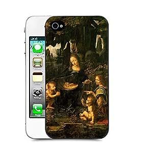 Case88 Designs Leonardo da Vinci Series Virgin of the Rocks Protective Snap-on Hard Back Case Cover for Iphone 4 4s