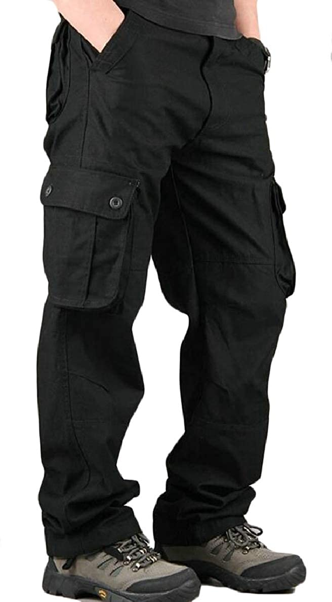 Black 31 Xswsy XGCA Men's Straight Outwear Leisure Solid color MultiPockets Pants