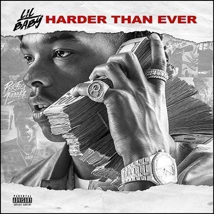 target achiver poster Album Cover Poster Thick Lil Baby: Harder Than Ever Music 12x12 inches