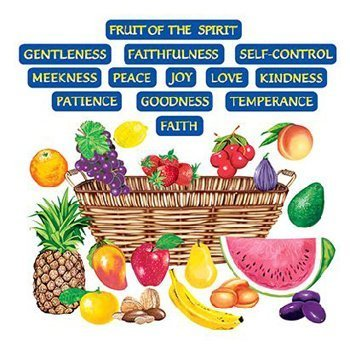 Little Folk Visuals Fruit of the Spirit Precut Flannel/Felt Board Figures, 33 Pieces Set -