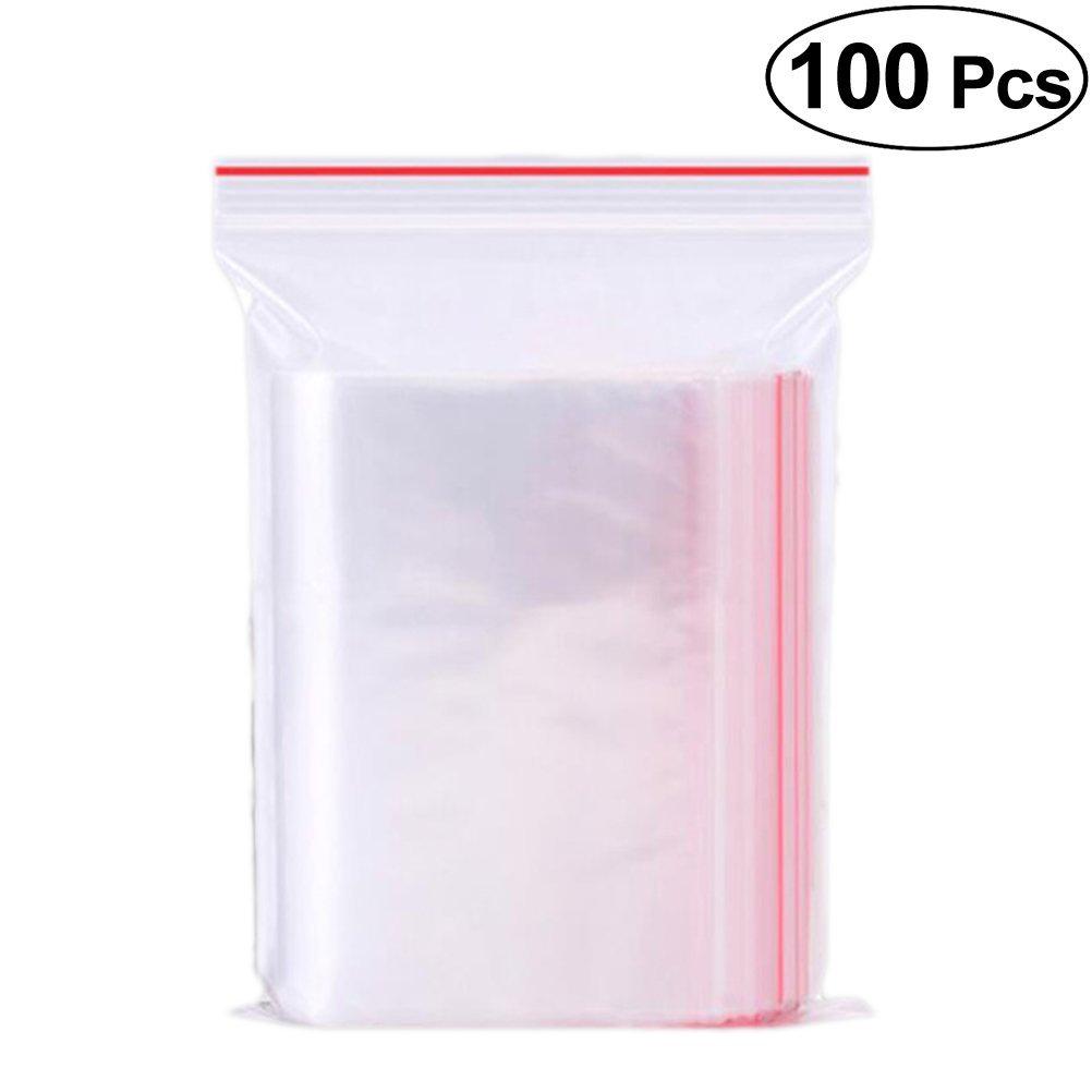 Vosarea Sacchetti di plastica con chiusura richiudibili sacchetti da regalo di cellophane Bueno per panader/ía Candela Sapone Cookie 7/x 10/cm 100/pezzi
