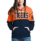 Detroit Tigers Women's French Terry Zip Up Color Block Hoodie