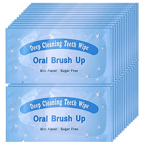 UNIQUE2U 100 pcs Textured Disposable Fresh Breath Deep Cleaning Teeth Wipes Finger Brush Teeth Wipes Oral Brush Finger…