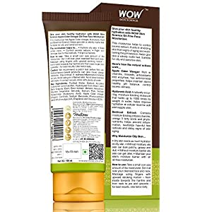 WOW Skin Science Organic Apple Cider Vinegar Face Moisturizer – Oil Free, Quick Absorbing – For Normal/Oily and Acne…
