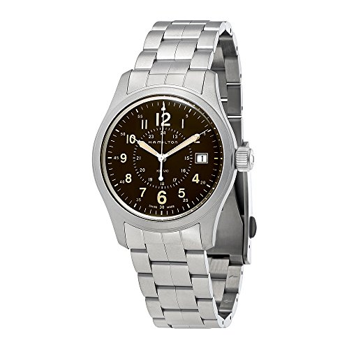 Hamilton Khaki Field Brown Dial Stainless Steel Mens Watch H68201193