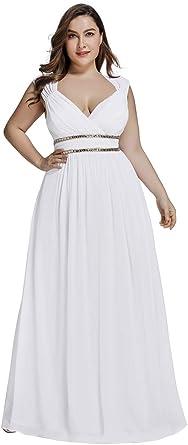 Ever Pretty Col V Robe De Soiree Longue Femme Grande Taille Empire Ceremonie 08697pl Amazon Fr Vetements Et Accessoires