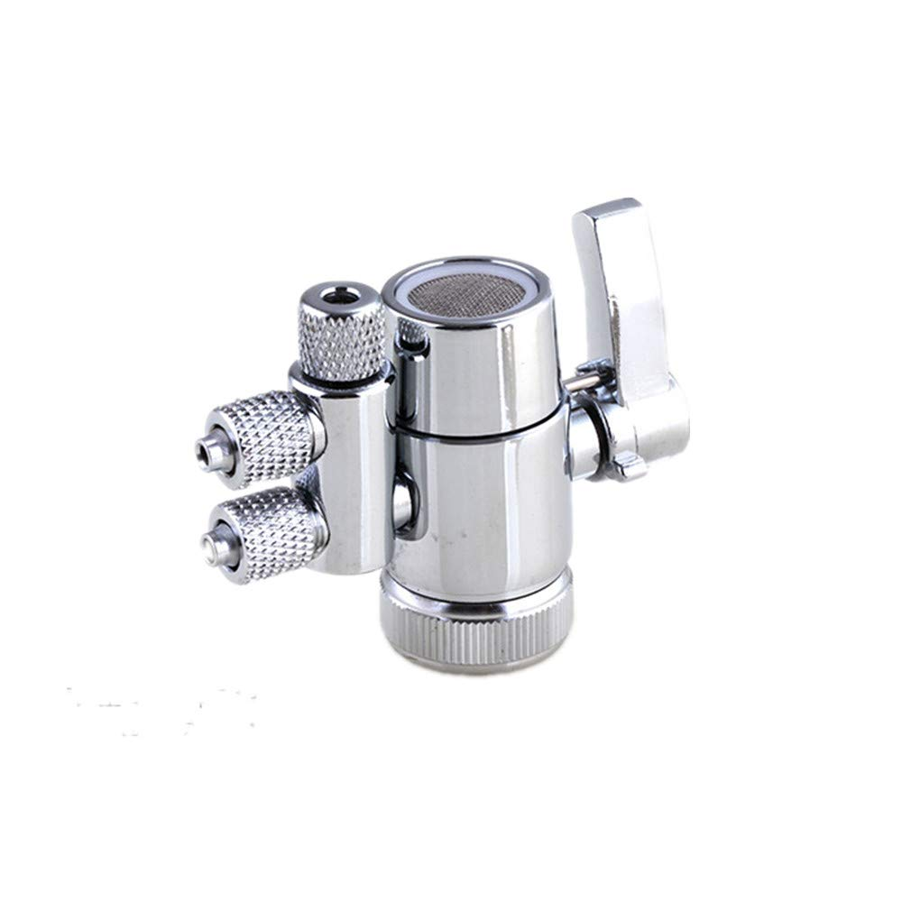 PureSec 2019 Two Way Diverter Valve 1/2 inch Female Thread Kitchen Sink Water Faucet Tap for Countertop water Filter (Two Way 1/4'' OD Tubing Outlet)