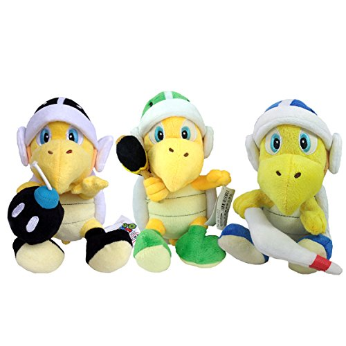 Super Mario Bros Koopa Troopa Hammer Bob-omb Boomerang Turtle Plush Toy Stuffed Animal 8