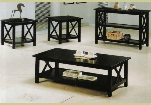 Amazon Com New Cappuccino Wood Coffee Table Set Wooden End Tables Kitchen Dining