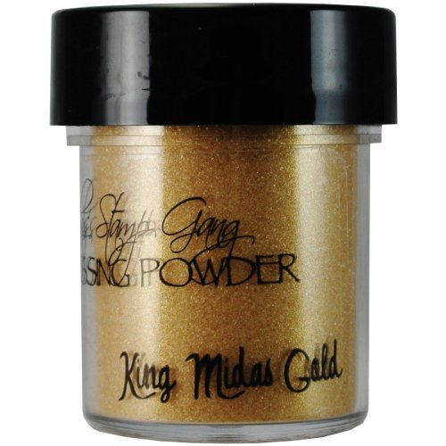 Lindy's Stamp Gang 2-Tone Embossing Powder, 0.5-Ounce, King Midas Gold