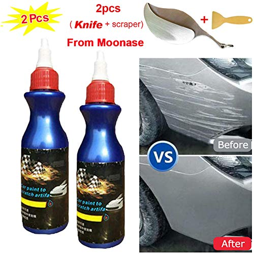Moonase 2 Pack One Glide Scratch Remover, Car Artifact Light Scratch Repair Wax Universal Auto Car Paint Dent Care Pen Polishing Repair Agents for Various Cars (2pack)