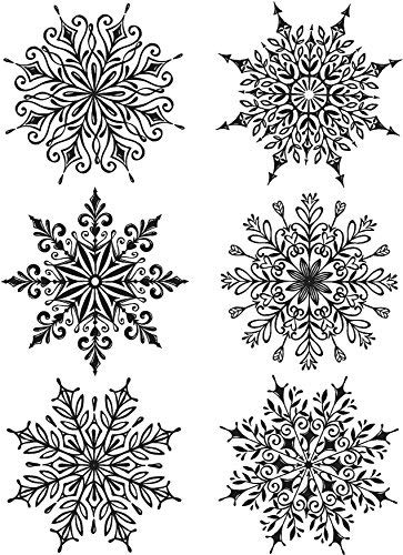 Stamper's Anonymous Tim Holtz Cling Stamps, Swirly Snowflakes